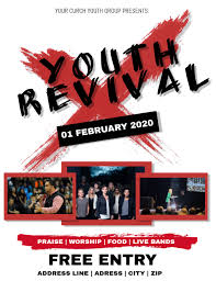 Church Revival Images Youth Revival Church Conference Flyer Templat Template