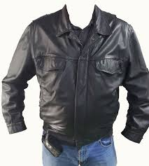 leather jacket german police model 2