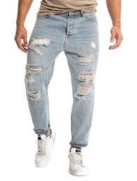Light Blue Jeans Streetwear Kevin Distressed Jeans In Light Blue In 2020 Ripped Jeans