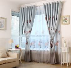 Light Blue Curtains Living Room Aliexpresscom Buy Light Blue British Style Childrens Curtains