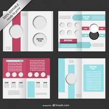 Booklet Template Free Download Custom Bifold Editable Brochure Mockup Vector Free Download