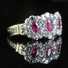 antique georgian ruby diamond ring triple cer antique diamond rings