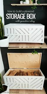 this plywood storage box is easy to build from just one sheet of 3 4