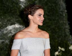 Emma Watson Hair Style emma watson rocks plaited updo at beauty and the beast premiere 1832 by wearticles.com