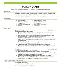 Construction Resume Examples Magnificent Apprentice Plumber Resume Examples Free To Try Today MyPerfectResume
