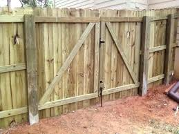 Building A Picket Fence Gate Double Picket Fence Gates Installing