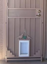 exterior door with built in pet door. creating exterior door with built in pet p