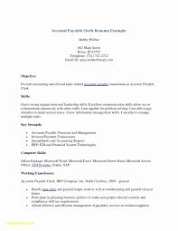 Accounts Payable Job Description Resume New Account Payable Resume