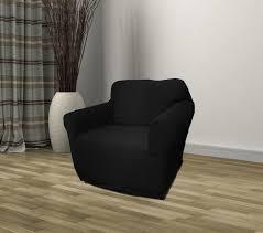 black furniture covers. Kashi Home Stretch Jersey Chair Slipcover - Black Furniture Covers