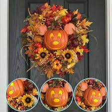 Vòng Treo Cửa Trang Trí Halloween Hình Chuột Mickey / Bí Ngô Bằng Acrylic  B6Q5 - Khung ảnh & vật trang trí tường