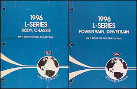 1996 ford l series foldout wiring diagram l8000 l9000 lt8000 1996 ford l series 7000 9000 repair shop manual original 2 volume set 189 00
