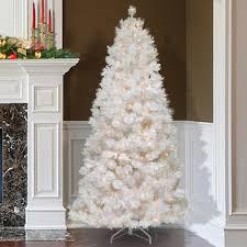 Slim 7.5\u0027 White Artificial Christmas Tree with 500 Clear Lights Pre-Lit Trees You\u0027ll Love | Wayfair