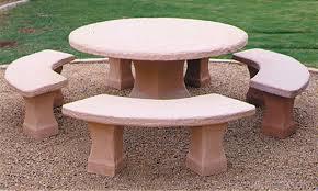 santa fe outdoor concrete tables