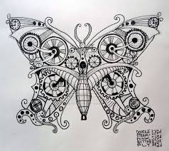 Steampunk butterfly drawing