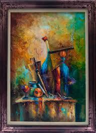 the artist is at rest original oil painting fine art still