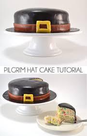 make a pilgrim hat cake for thanksgiving
