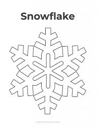 Free printable coloring pages for kids! Free Printable Snowflake Templates 10 Large Small Stencil Patterns What Mommy Does