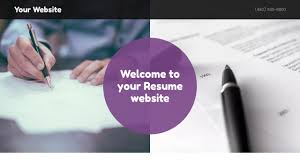 Personal Resume Website Resume Website Templates GoDaddy 32