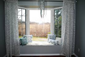 interior design bay window treatments cozy bedroom with purple marvelous yellow and white two piece treatment