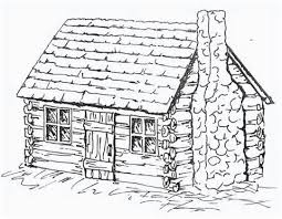log cabin coloring pages