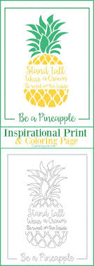 Be A Pineapple Inspirational Print And