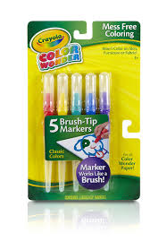 classic color wonder brush tip markers by crayola ship from us com
