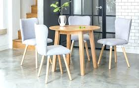 round dining table set for 4 dove grey dinner with
