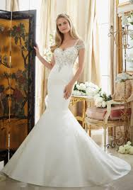 Crystallized Embroidery On Satin Wedding Gown Style 2880 Morilee