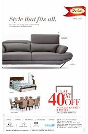 furniture store newspaper ads. Durian Furniture Style That Fits All. Flat 40% Off On Home \u0026 Office Ad Store Newspaper Ads