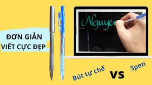 Tự làm bút cảm ứng siêu đơn giản viết đẹp như spen - YouTube