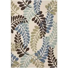 perfect 7 x 10 outdoor rug indoor outdoor rug blue brown cream 7 x 10 outdoor furniture