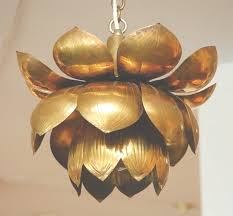 brass lotus chandelier at 1stdibs pertaining to lotus chandelier view 8 of 45