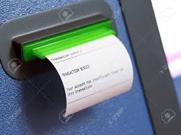 Insufficient Funds Atm Machine Receipt Stock Photo Picture And