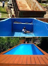Diy Above Ground Pool Above Ground Swimming Pool Designs Awesome Diy