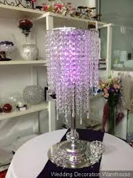 crystal waterfall chandelier with pink led lights