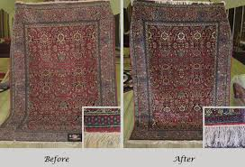 isfahan rug repair and clean before and after