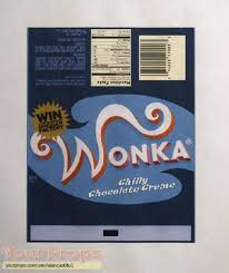 wonka chocolate bar wrapper. Plain Chocolate Charlie And The Chocolate Factory Replica Movie Prop To Wonka Bar Wrapper X