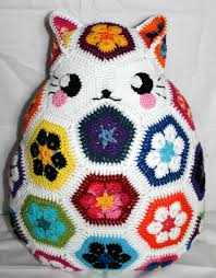 Owl Pillow Pattern Maggie The African Flower Owl Pillow Pattern By Jos Crocheteria