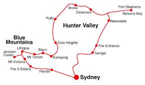 Resultado de imagen para blue mountains australia map