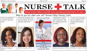 Nurse Talk What Do You Love About Your Job Oklahoma Nursing Times