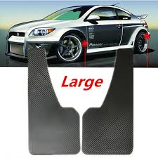 <b>2PCS</b> Black <b>ABS</b> Mudflaps <b>Car</b> Moulding Trim Mud Guards Carbon ...