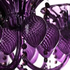 bella vetro chandelier purple detail