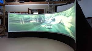 pixelwix geo curved game screen immersive rear projection