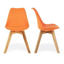 orange dining chairs  tjihome