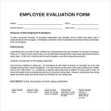 Restaurant Employee Performance Review 41 Sample Employee Evaluation Forms In Pdf