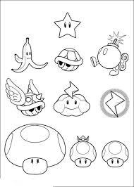Super Mario Kart Coloring Pages With Super Mario Bros Printable
