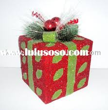 Christmas gift box decoration,Sisal gift box(New product)