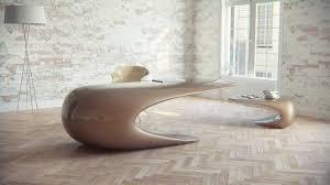 futuristic office desk. Unique Office Desk From Nuvist: Amazing Double Funny Nebbessa Coffee Table For Lounge Area By Nuvist With Beige Color Design Ideas Inspirati. Futuristic