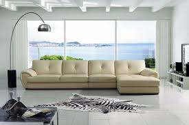 cream leather sectional69