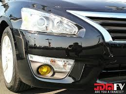 13 15 Nissan Altima Sedan Precut Yellow Fog Light Overlays Tint